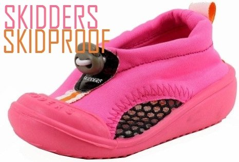 Skidders Skidproof Water Shoes Sun Grips Girl Infant Toddler Pink or Purple