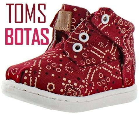 Toms Botas Tiny Toddler Boy's Girl's Bandana Chukka Sneakers Shoes Slip On Unisex Comfortable For Kids