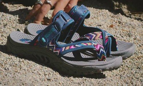 skechers-reggae-rasta-sandals-for-achilles tendonitis