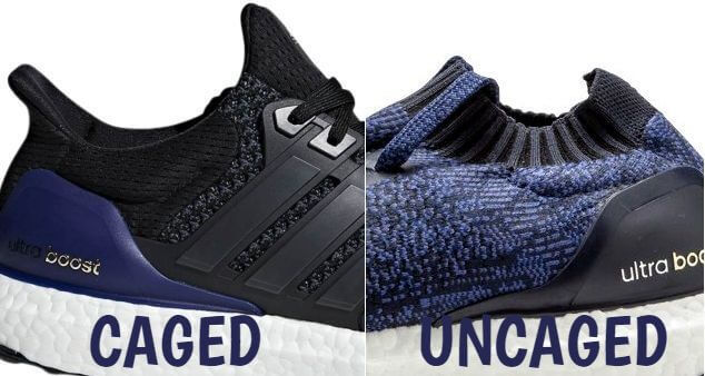 Adidas Ultra Boost Caged vs Uncaged