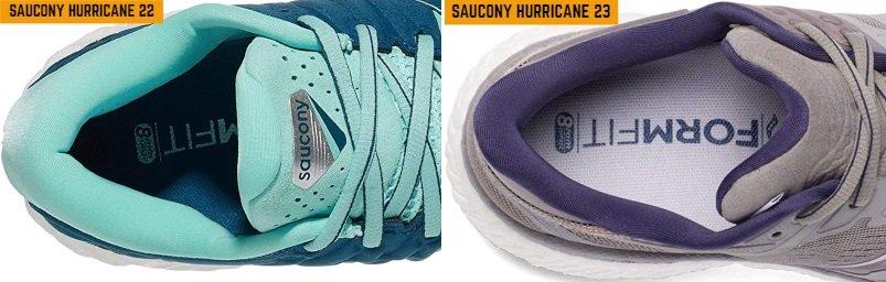 saucony-hurricane-22-vs-23-collar-and-tongue